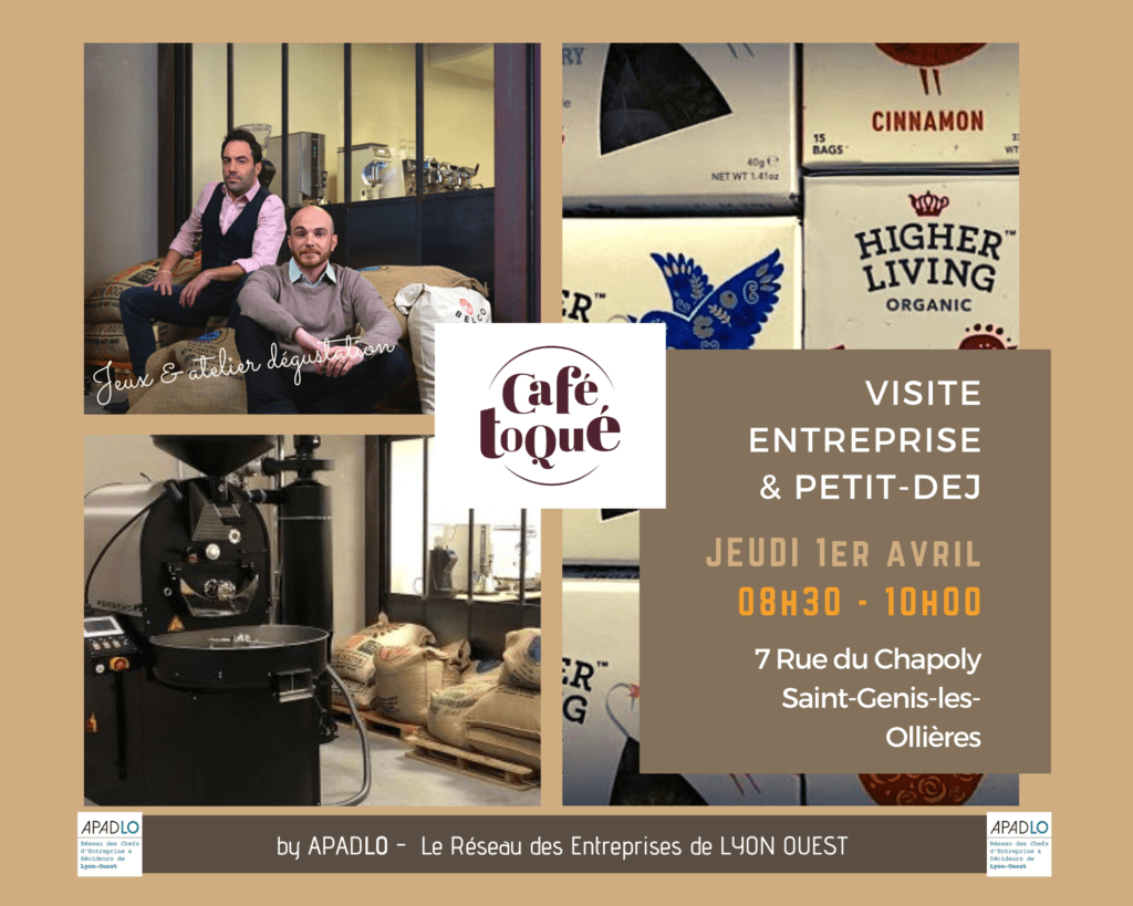 VISITE & PETIT DEJ CAFE TOQUE by APADLO Jeudi 1er avril 2021