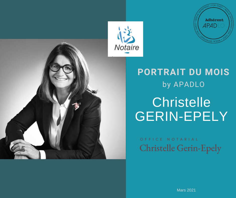 Portrait Maître Christelle GERIN-EPELY Notaire Ecully Lyon